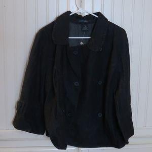 French Cuff Jean Jacket Plus Size 3x